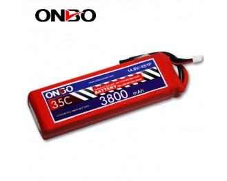 35C 4S 3800mAh lipo,3800mah lipo,ONBO 4S 35C lipo,3.7V lipo battery