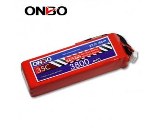 35C 6S 3800mAh lipo,3800mah lipo,ONBO 6S 35C lipo,3.7V lipo battery