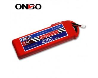 35C 2S 4200mAh lipo,4200mah lipo,ONBO 2S 35C lipo,3.7V lipo battery