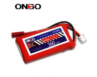 35C 2S 360mAh lipo,360mah small lipo,ONBO 2S 35C lipo,3.7V lipo battery