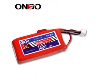35C 2S 1400mAh lipo,1400mah lipo,ONBO 2S 35C lipo,3.7V lipo battery