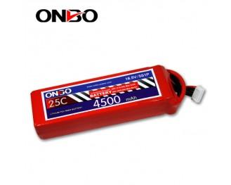 25C 5S 4500mAh lipo,4500mah lipo, ONBO 5S 25C lipo,3.7V lipo battery