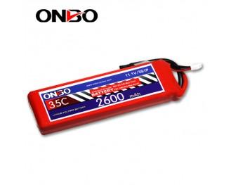 35C 3S 2600mAh lipo,2600mah lipo,ONBO 3S 35C lipo,3.7V lipo battery
