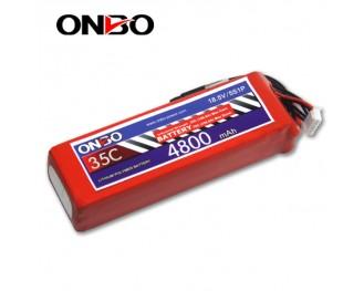 35C 5S 4800mAh lipo,4800mah lipo,ONBO 5S 35C lipo,3.7V lipo battery