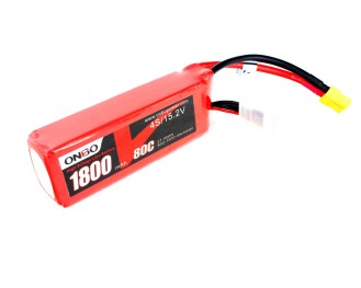 ONBO 1800mAh 4S 80C 15.2V High Voltage Lipo Battery