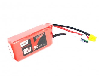 ONBO 850mAh 4S 80C 15.2V High Voltage Lipo Battery