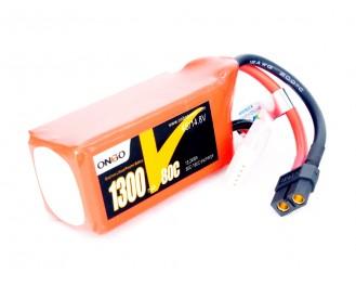 ONBO Graphene 1300mAh 4S 14.8V 80C Lipo Battery
