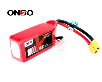 ONBO 1000mAh 4S 14.8V 95C Lipo Battery