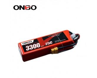 25C 4S 3300mAh lipo,3300mah lipo, ONBO 4S 25C lipo,3.7V lipo battery