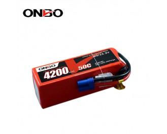50C 6S 4200mAh lipo,4200mah lipo,ONBO 6S 50C lipo,3.7V lipo battery