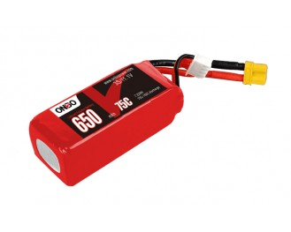ONBO 650mAh 11.1V 75C 3S1P Lipo Battery Ideal for models Mikado Logo 200 Helicopter