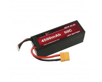 ONBO 4500mah 50C 6S1P 22.2V Hard Case  Traxxas lipo battery,1:8 rc car lipo pack,Drifting Car Battery,50C black hardcase lipo,black hardcase lipo