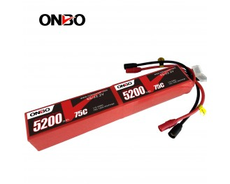 ONBO 5200mAh 44.4V 75C 12S Lipo Battery suitable for large scale airplanes and helicopters, such as the Goblin700, GoblinKraken700,Mikado LOGO 700 , Outrage, Align T-REX 700 and ThunderTiger700 and 80
